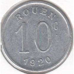 Monnaie de nécessité - 10 Centimes - Ligue des Commerçants rouennais - 1920