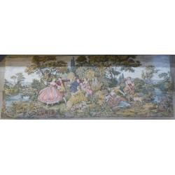 Tapisserie murale d'artisan (style Fragonnard)