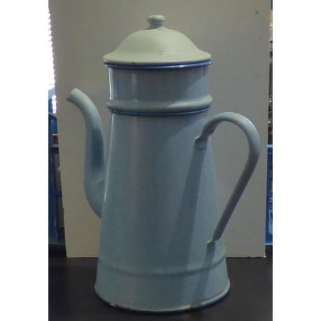 Cafetière émaillée vintage bleue