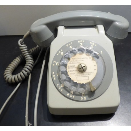 TELEPHONE A CADRAN GRIS Socotel S63 - vintage