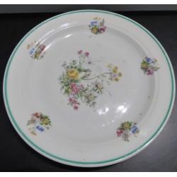 Assiette plate fleurie - Vintage