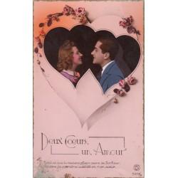 Carte postale - Deux coeurs, un amour