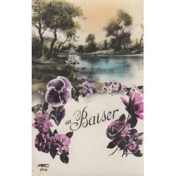 Carte postale - Un Baiser