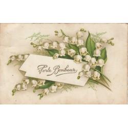 Carte postale - Porte-Bonheur - Muguet
