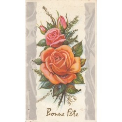 Carte postale - Bonne fête - carte pliante