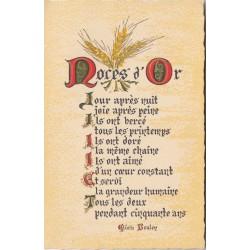 Carte postale - Noces d'or ....