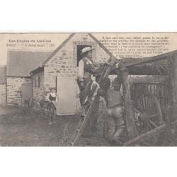 Carte postale - Autour des lits clos - La chasse .... L'accident (2)