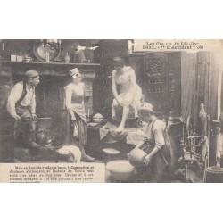 Carte postale - Autour des lits clos - La chasse .... L'accident (6)