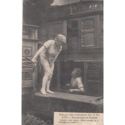 Carte postale - Autour des lits clos - Servantes et valets