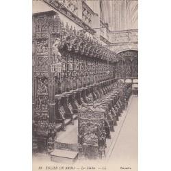 Carte postale - Eglise de Brou - Les stalles