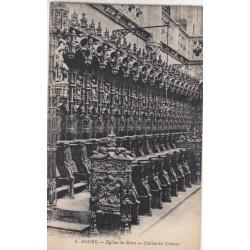 Carte postale - Eglise de Brou - Les stalles du choeur