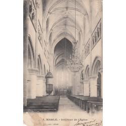 Carte postale - Marle - Intérieur de l'église