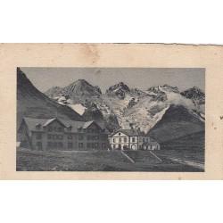 Carte postale - Dauphiné - Le lautaret, les hotels et le glacier de l'homme