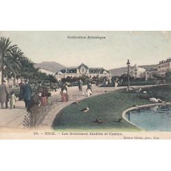 Carte postale - Nice - Les nouveaux jardins et le casino