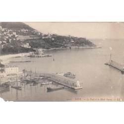 Carte postale - Nice - Le port et le mont Boron