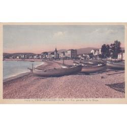 Carte postale - Cros de Cagnes - Vue générale de la plage