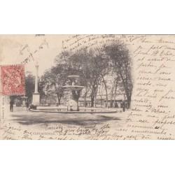 Carte postale - Carcassonne - Jardin des plantes - Colonne du Trianon