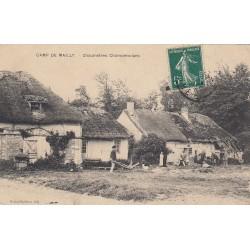 Carte postale - Camp de Marly - Chaumières champenoises
