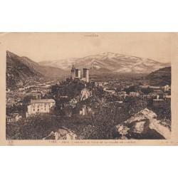 Carte postale - Foix - Vue sur la ville et la vallée de l'Ariège
