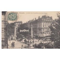 Carte postale - Marseille - Carrefour de la Cannebière et du cours St-Louis