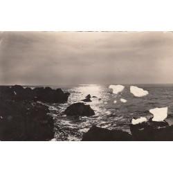 Carte postale - Trouville - Clair de lune aux roches noires à marée basse