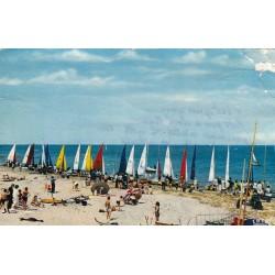 Carte postale - Villers sur mer - arrivée d'une course des voiliers