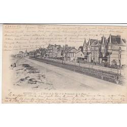 Carte postale - Beuzeval (Houlgate) - L'hôtel de la mer & la promenade de la plage