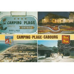 Carte postale - Cabourg - Camping-Plage