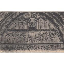 Carte postale - Bourges - Tympan du porche central de la cathédrale