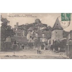 Carte postale - Turenne - Place du Marchadiol et Entrée de la Grande-Rue
