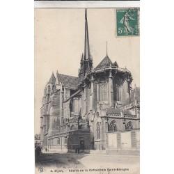 Carte postale - Dijon - Abside de la cathédrale Saint-Benigne