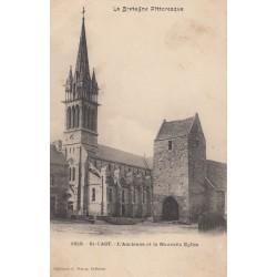 Carte postale - Saint-Cast - L'ancienne et la nouvelle église