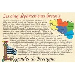 Carte postale - Les cinq départements bretons