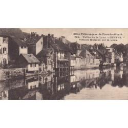 Carte postale - Vallée de la Loue - Ornans - Vieilles maisons sur la Loue
