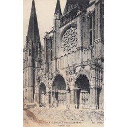Carte postale - Cathédrale de Chartes - Portail sud