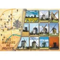Carte postale - Les moulins de la Beauce