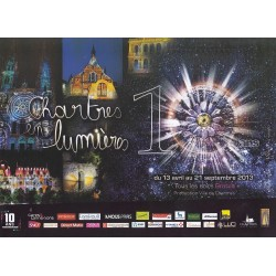 Carte postale - Chartres en lumière - 10 ans