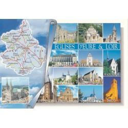 Carte postale - Eglises d'Eure et Loir