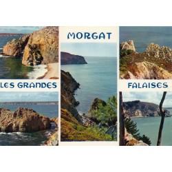 Carte postale - Morgat - Les grandes falaises