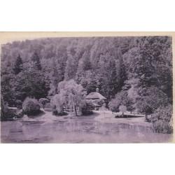 Carte postale - Luchon - Le parc des quinconces et la buvette du pré