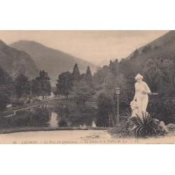 Carte postale - Luchon - Le parc des quinconces - La statue de la vallée du lys