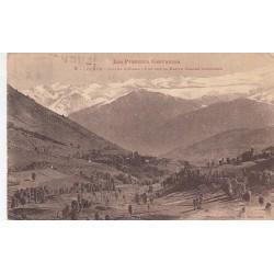 Carte postale - Luchon - Vallée d'Oueil - Vue sur la haute chaine frontière