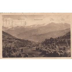 Carte postale - Luchon - Vallée d'Oueil - Vue sur la haute chaine frontière et les glaciers en été