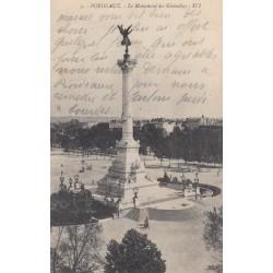Carte postale - Bordeaux - Le Monument des Girondins