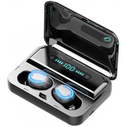 F9-5 TWS Écouteur Bluetooth 5.0 sans Fil Tactile - Noir